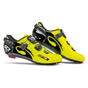 Sidi Wire Carbon Vernice Cycling Shoes  BlackYellow Fluo  EU 38UK 4