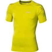 Asics Mens Tiger Running Top  Electric Lime  XL