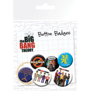 Lot de Badges Personnages The Big Bang Theory
