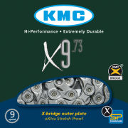 KMC X9-73 Chain - 116 Links - Grey