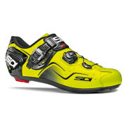 Sidi Kaos Carbon Cycling Shoes - Black/Yellow Fluo