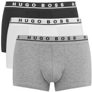 BOSS Hugo Boss Men's Three Pack Boxers - Black/White/Grey