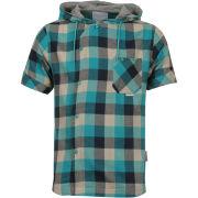 Humor Men's Robi Checked Shirt - Aqua