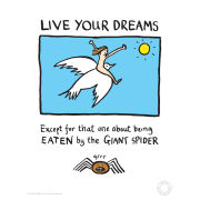Impression Édition Limitée Live Your Dreams - Edward Monkton