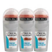 Купить Набор из трех освежающих роликовых дезодорантов для мужчин L'Oreal Paris Men Expert Fresh Extreme Deodorant Roll-On Trio (50 мл)