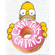 The Simpsons Eating  Mini Poster  40 x 50cm