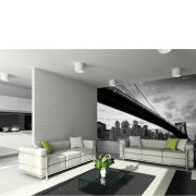 Image of New York's Brooklyn Bridge and City Skyline Wall Mural