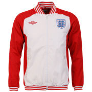 Umbro Men's England Icon Track Jacket - Red/ White