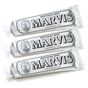 Lot de dentifrices Marvis 3 x 85 ml – Whitening Mint (menthe blanchissante)