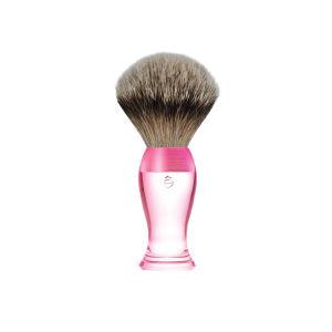 eShave Silvertip Badger Hair Shaving Brush Short Handle - Pink