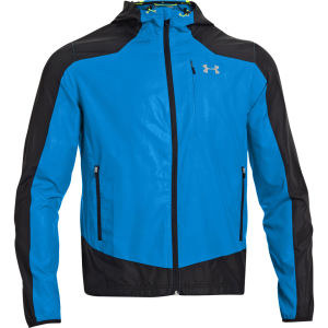 Under Armour Men's Imminent Run Jacket - Black/Graphite/Electric Blue/Reflective