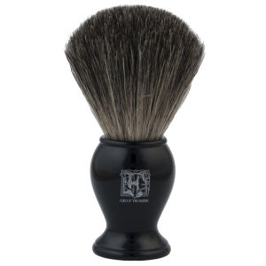 Geo. F. Trumper PB1BP Black Pure Badger Shaving Brush