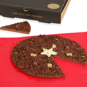 Christmas Chocolate Pizza - 10 Inch