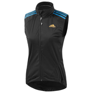 adidas Women's Tour Gilet - Black/Solar Blue