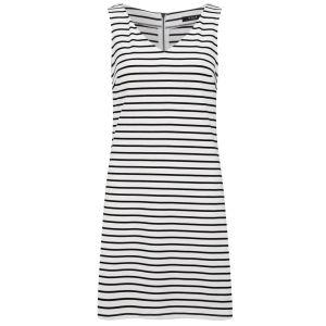 VILA Women's Tinny Striped Dress - Snow White