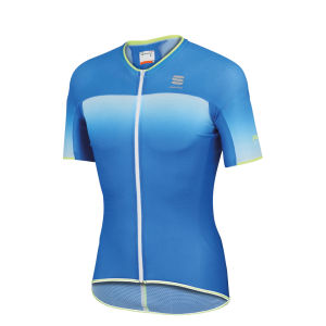 Sportful R&D Ultralight Short Sleeve Jersey - Blue/White