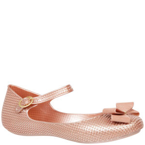 Mel Women's Blueberry Bow Ballet Pumps - Blush