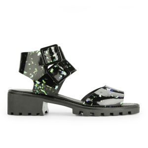Miista Women's Patti Speckle Sandals - Black