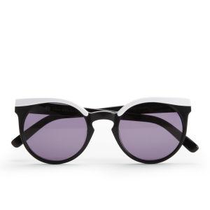 House of Harlow Krissy Round Sunglasses - White/Black
