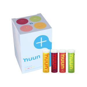 Nuun Active Sports Isotonic Hydration Tablets - 4 Pack Orange,Tri-Berry, Citrus & Lemon-Lime