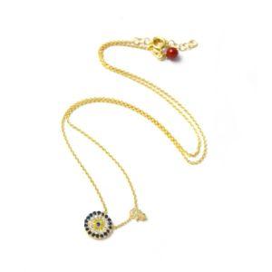 Wishlist Evil Eye Necklace Gold-Plated