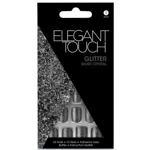 Elegant Touch Glitter Nails - Silver