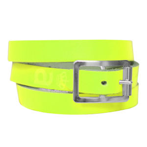 Anna Lou of London Limited Edition Leather Wrap Around Bracelet - Neon Yellow