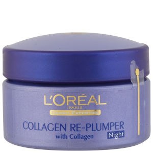 Crema de noche redensificante Dermo Expertise Collagen Wrinkle De-Crease Replumping Night Cream de L'Oreal Paris (50 ml)