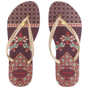 Havaianas Women's Slim Royal Flip Flops - Aubergine