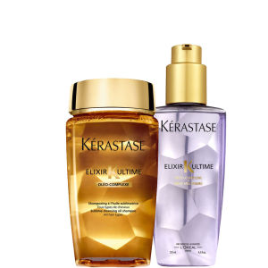 Kérastase Elixir Ultime Huile Lavante Bain (250ml) and Oil (125ml) Duo for Fine and Sensitised Hair Bundle