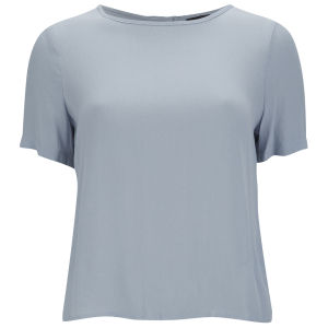 VILA Women's Fia Top - Blue Fog