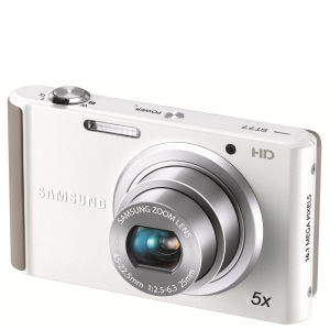 Samsung ST77 Compact Digital Camera (16MP, 5x Optical, 2.7Inch LCD) - White