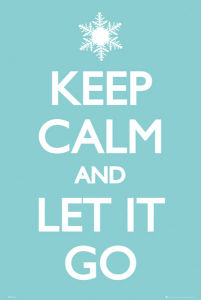 Keep Calm Let it Go - Maxi Poster - 61 x 91.5cm