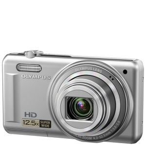 Olympus VR-320 Digital Camera (14MP, 12.5x Super Wide Optical Zoom, 3-Inch LCD) - Silver