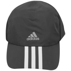 adidas Unisex Run 3-Stripes Climacool Cap - Black/Reflective Sliver