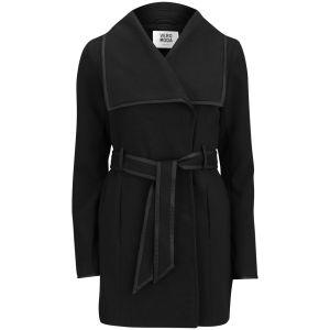Vero Moda Women's Waterfall Tie Front Jacket - Black