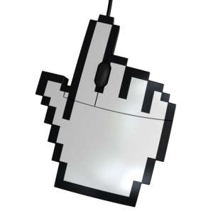 Pixelated Hand-Shaped Mouse - Wired