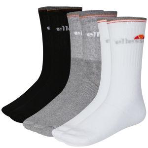 Ellesse Men's 9-Pack Socks - Black/White/Grey