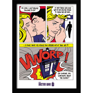 Affiche Encadrée -Doctor Who Pop Art (30x40cm)