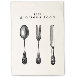 Victoriana Tea Towel - Food Glorious Food