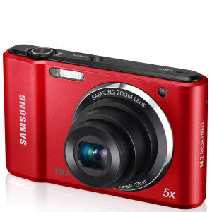 Samsung ES91 Compact Digital Camera (14MP, 5x Optical, 2.7 Inch LCD) - Red