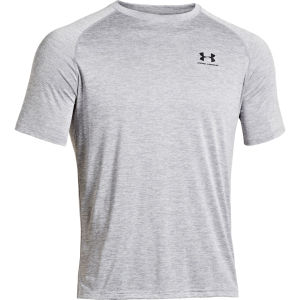 Under Armour Men's UA Tech Short Sleeve T-Shirt - True Gray Heather/Black