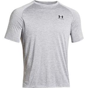 Under Armour Men's UA Tech Short Sleeve T-Shirt - True Gray Heather/Black