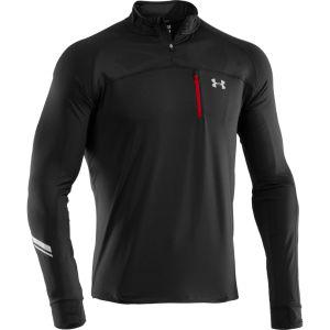 Under Armour Men's Run 1/4 Zip Jacket - Black/Red/Reflective