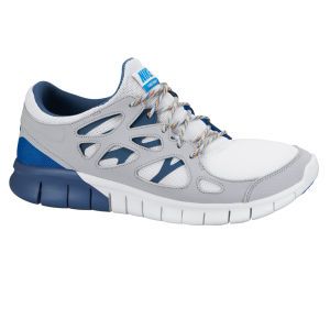Nike Men's Free Run 2 Running Shoes - White/Grey/Blue