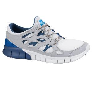 Nike Men's Free Run 2 Running Shoes - White/Grey/Blue