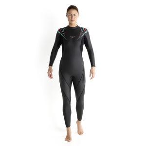 Speedo Women's Thin Comp Full Suit - Black/Pink/Blue