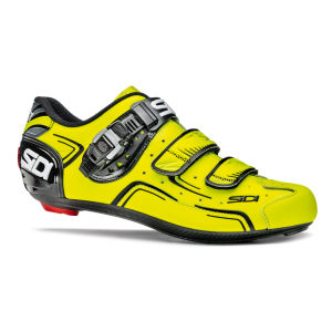 Sidi Level Cycling Shoes - Black/Yellow Fluo