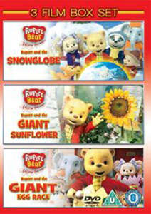 Rupert  Bear Verzameling - Snowglobe / Giant Egg Race / Giant Sunflower
