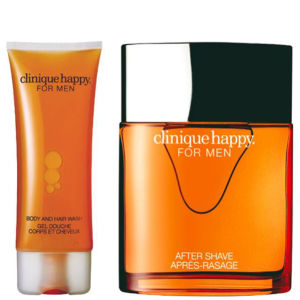 Conjunto Happy Duo da Clinique For Men (100 ml Spray, Gel de Cabelo e de Corpo)
